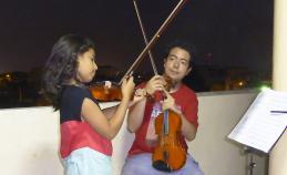 Geigenunterricht in Ecuador
